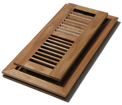 "4"" x 12"" Oak (Medium) Flushmount Register"