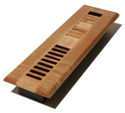 """2"""" x 12"""" Louvered Maple Natural Register"""