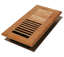 """4"""" x 10"""" Louvered Maple Natural Register"""