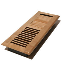 """4"""" x 14"""" Louvered Maple Natural Register"""