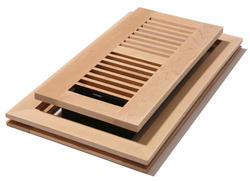 """4"""" x 10"""" Maple Unfinished Flushmount Register"""
