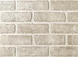 DPI Earth Stones 4' x 8' Brick Bianco Hardboard Wall Panel