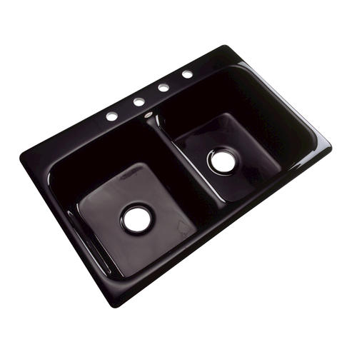 Menards Kitchen Sinks : Westport Double Bowl Kitchen Sink 4 faucet hole at Menards?