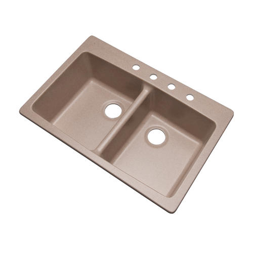 Dekor Deluxe Edition Westwood DB Acrylic Kitchen Sink with a Quartz posite
