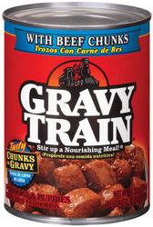 Gravy Train Beef Chunks in Gravy Dog Food - 13.2 oz