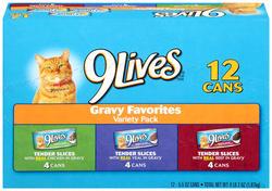 9Lives Tender Slices Cat Food Variety Pack - 12-ct