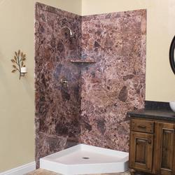"FlexStone 40""X40""X78"" Splendor Corner Shower Kit"