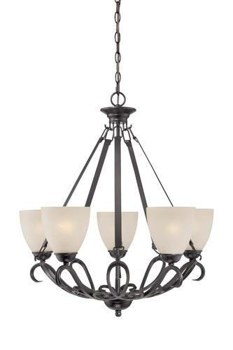 Patriot Lighting Elegant Home Ivy 5 Light 26 Bronze Chandelier At Menards