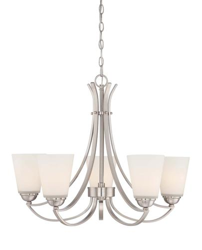 Patriot Lighting Concorde 5 Light 26 Satin Nickel Chandelier At Menards