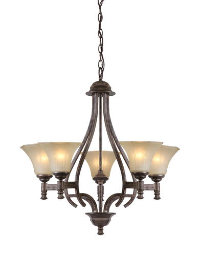 Patriot Lighting Veracruz 5 Light 27 H Vintage Florentine Bronze Chande