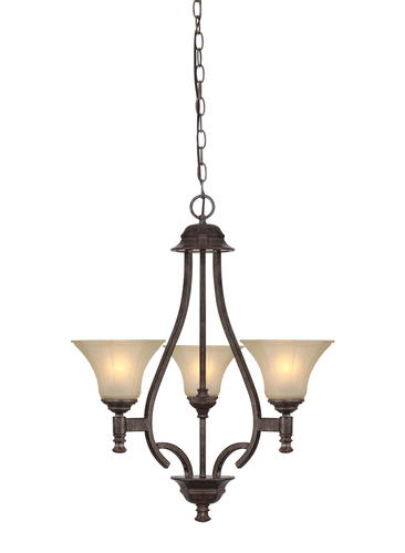Patriot Lighting Veracruz 3 Light H Vintage Florentine Bronze Cha