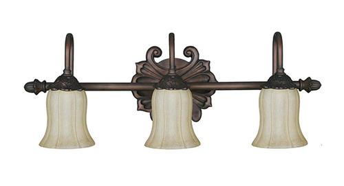 "Patriot Lighting Elegant Home Surrey 3-Light 26.75"" Bronze"