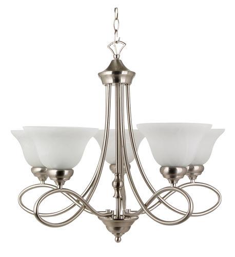 patriot lighting rianto 5 light 22 h brushed nickel chandelier at menards. Black Bedroom Furniture Sets. Home Design Ideas
