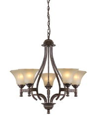 "Patriot Lighting Veracruz 5-Light 27"" H Vintage Florentine Bronze Chandelier"