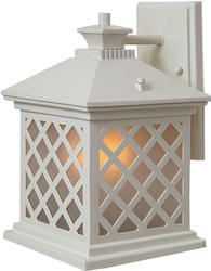 "Patriot Lighting Trellis 11.75"" H Antique White Outdoor Wall Light"