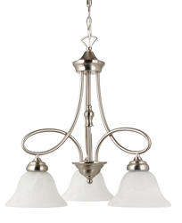 "Patriot Lighting Rianto 3-Light 21.25"" H Brushed Nickel Chandelier"