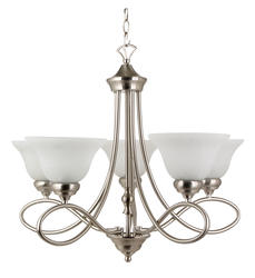 "Patriot Lighting Rianto 5-Light 22"" H Brushed Nickel Chandelier"