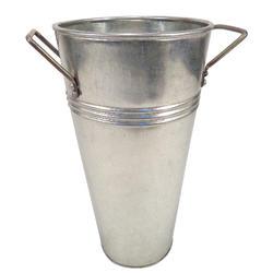 "12"" Galvanized Bucket Vase"