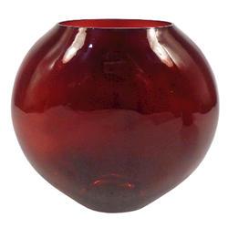 """9"""" Red Round Vase"""