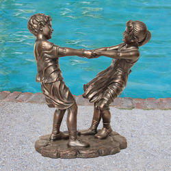 Boy and Girl Holding Hands Statue
