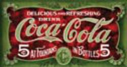 Desperate Enterprises Coke 1900s 5 Cent Sign