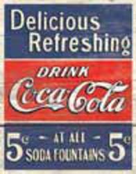 Desperate Enterprises COKE - Delicious 5 Cents Sign