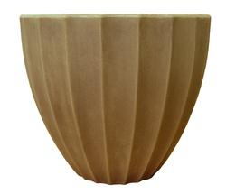 "16"" Scalloped Resin Pot"