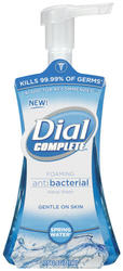 Dial Complete Spring Water Foaming Antibacterial Hand Wash - 7.5 oz.