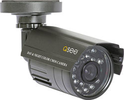 Q-See Weatherproof 480TVL Resolution Camera with 50' Night Vision and a 3.6mm Lens