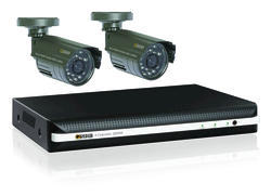 Q-See 4-Channel DVR 500GB HDD with 2 420 TVL Resolution Cameras (40' Night Vision)