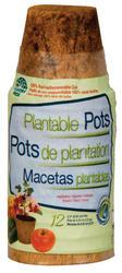 "2.25"" Round Fiber Grow® Pots (12-Pack)"