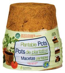 "6"" Round Fiber Grow® Pots (6-Pack)"