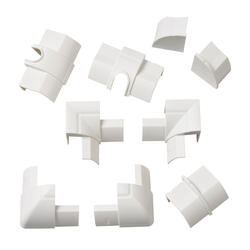 White Quarter Round Accessory Multipack (9 Pieces)