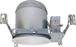 "Patriot Lighting 6"" New Construction IC Recessed Housing with White Baffle (4-Pack)"