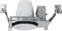 "Patriot Lighting 4"" New Construction Non-IC Recessed Housing with White Baffle (4-Pack)"