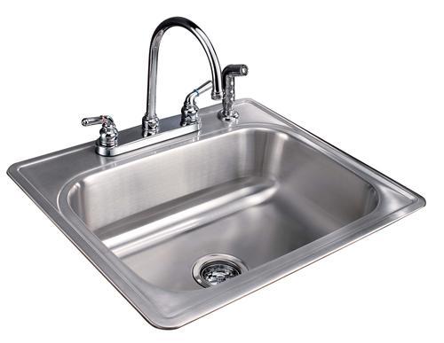Tuscany 8 Single Bowl Stainless Steel Kitchen Sink Kit At Menards