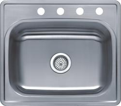 "Tuscany 8"" Stainless Steel Single-Bowl Kitchen Sink"