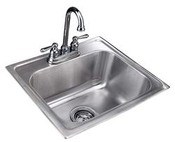 "Tuscany 8"" Single-Bowl Stainless Steel Bar Sink Kit"