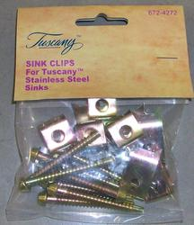 Tuscany Top-Mount Sink Clips