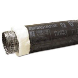 "Dundas Jafine 18"" x 25' Insulated Duct - Black Jacket R8"
