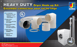 "Dundas Jafine 4"" x 8' Heavy Duty Dryer Hook Up Kit w/ UL Duct"