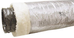 "Dundas Jafine 8"" x 25' Insulated Duct - Silver Jacket R4.2"