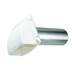 """ProMax 4"""" White Wide Mouth Exhaust Hood"""
