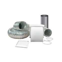 "Dundas Jafine ProMax White Dryer Vent Kit w/ 4"" x 8' ProFlex Duct"