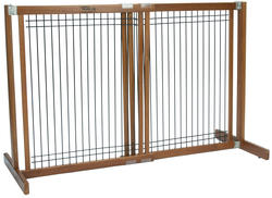 """Dynamic Accents, LTD.™ Kensington 30"""" Tall Small Artisan Bronze Freestanding Wood and Wire Pet Gate"""