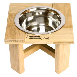 """6"""" Tall Legacy Series Outdoor Single Bowl Elevated Feeder"""