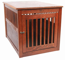Dynamic Accents, LTD.™ Large Mahogany Oak End Table Pet Crate