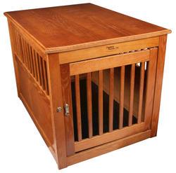 Dynamic Accents, LTD.™ Large Burnished Oak End Table Pet Crate