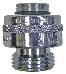 """13/16"""" - 24 special threads x 3/4"""" hose thread Chrome Vacuum Breaker"""