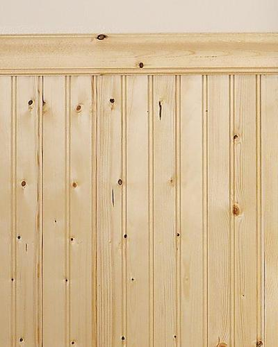 Mill Services Premium Double-Bead Knotty Pine Wainscot